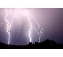 Lightning Blast over Coraki Photographic Print