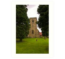 St Mary's Church - Myton on Swale Art Print