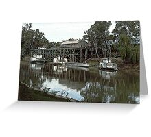 Paddle Boats on the Murray. Greeting Card