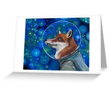 Wonderment of a Space Fox Greeting Card