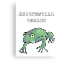 Existential Terror Frog Canvas Print