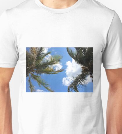 Palm trees in the sky, Florida Unisex T-Shirt
