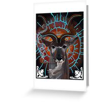 Bruth the Spiral Horned Kudu Greeting Card