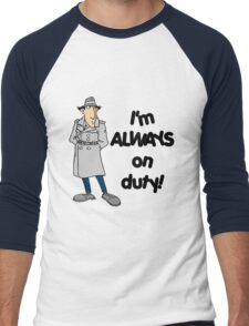 Inspector Gadget - I'm Always On Duty - Black Font Men's Baseball ¾ T-Shirt