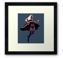 Storm Inferno - Isolated Framed Print