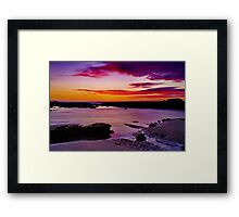 """Ebb Tide Dawn"" Framed Print"