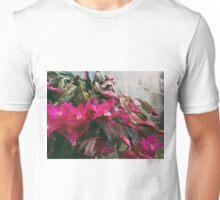 Floral concrete scape Unisex T-Shirt