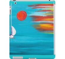 Sunset sail original art iPad Case/Skin