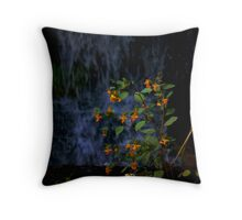 Flower in the Falls Throw Pillow