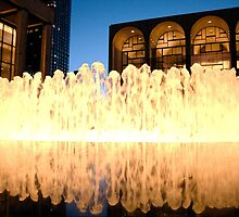 Lincoln Center Fountain by LinneaJean
