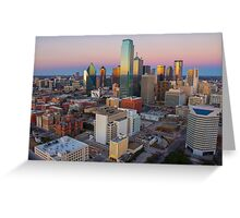 Dallas Skyline Sunset Greeting Card