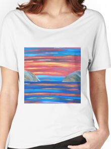 Sunset in Patmos Women's Relaxed Fit T-Shirt
