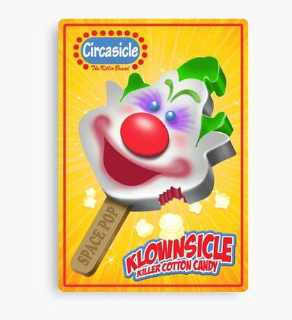Killer Klown Popsicle Canvas Print