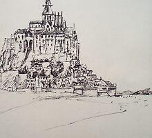 Le Mont Saint Michel by Stephen Coley