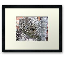 Balinese Temple Guardian Framed Print