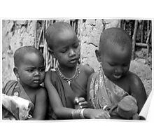 Masai Children Poster