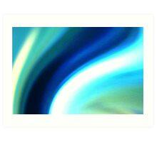 rivers of blue Art Print