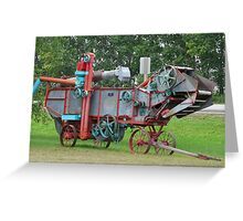 Old Threshing Machine. Greeting Card