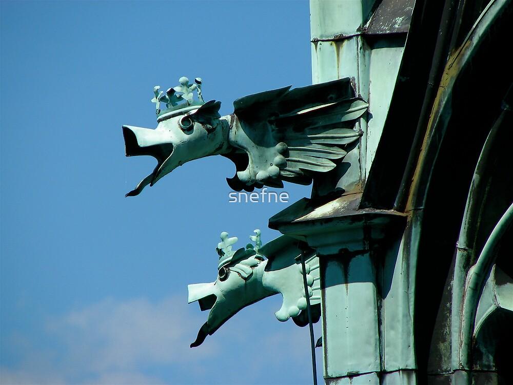 Dragons in Prague by snefne