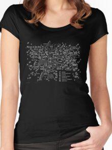 Twin Peaks (Dark Background) Women's Fitted Scoop T-Shirt