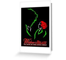 Widow and the Beast Greeting Card