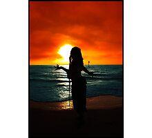 Sunset Silhouette I Photographic Print