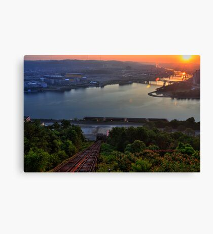 The confluence HDR Canvas Print
