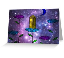 Open Clouds Space  Greeting Card