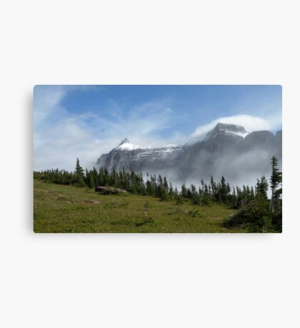 Glacier National Park - The Garden Wall Canvas Print