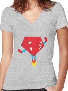 Ruby power Women's Fitted V-Neck T-Shirt
