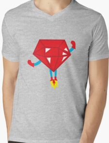 Ruby power Mens V-Neck T-Shirt