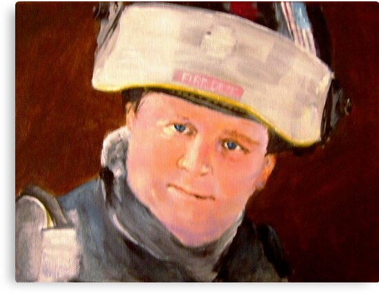 MIKE THE FIREFIGHTER by LJonesGalleries