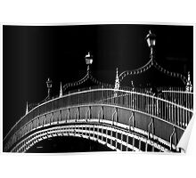 Ha'penny Bridge, Dublin Poster