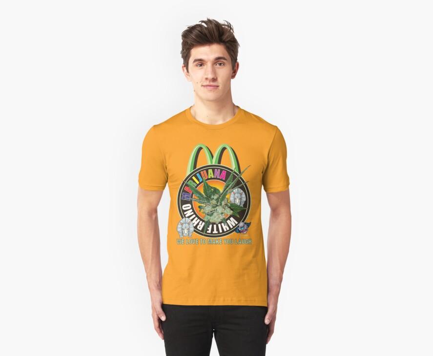 Marijuana T Shirt White Rhino by bear77