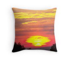 Molten Sunset Throw Pillow