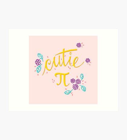 Cutie Pi (Pink) Art Print