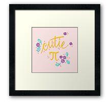 Cutie Pi (Pink) Framed Print