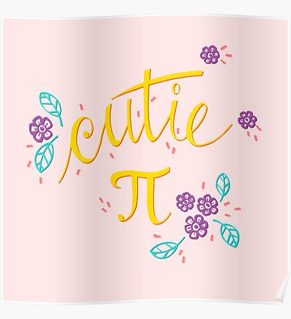 Cutie Pi (Pink) Poster