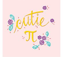 Cutie Pi (Pink) Photographic Print