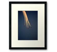 Golden Arrows Framed Print