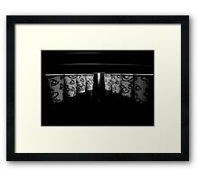 """""""odd cup out! (B&W) Framed Print"""