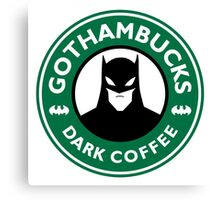 Batman - Starbucks Parody Canvas Print