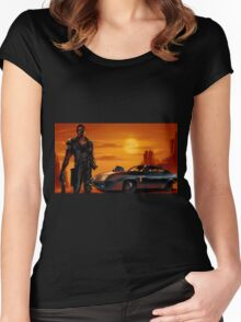 Mad Max and the V8 Interceptor Women's Fitted Scoop T-Shirt