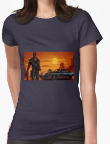 Mad Max and the V8 Interceptor Womens Fitted T-Shirt