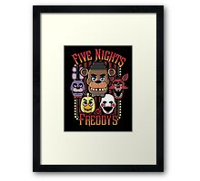 Five Nights At Freddy's Pizzeria Multi-Character Framed Print