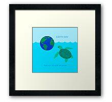 Sea Turtle - Earth Day Framed Print