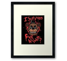 I Survived Five Nights At Freddy's Pizzeria Framed Print