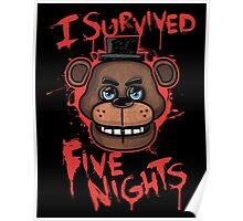I Survived Five Nights At Freddy's Pizzeria Poster