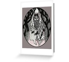 The Lost King Greeting Card