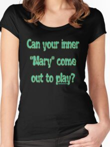 INNER MARY Women's Fitted Scoop T-Shirt